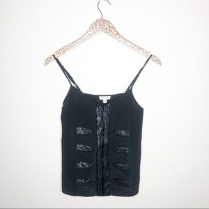 Silence + Noise Beaded Silk Marching Band Camisole